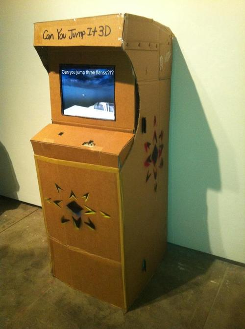 """Can You Jump It 3D"" by Stephen ""Increpare"" Lavelle. Photo courtesy of Punk Arcade."
