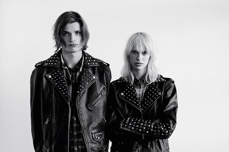 Harvard Kleppe and Lily Sumner in Diesel FW14 Dazed AW14