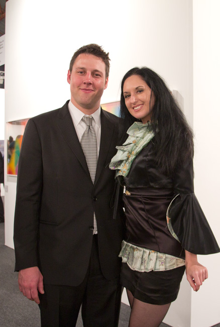Tim Fleming (Director of ALAC) with Tiffany Trenda (LA Based Performance Artist) - Estée Ochoa