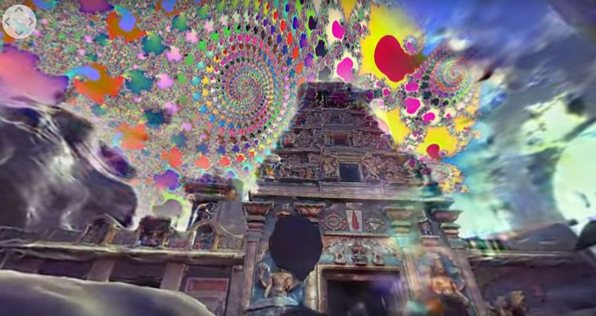 Drift Through Ancient Psychedelic Temples in a 360° Music Video